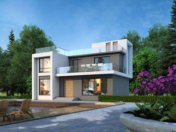 二层现代风格别墅设计图,融入都市感的个性洋楼