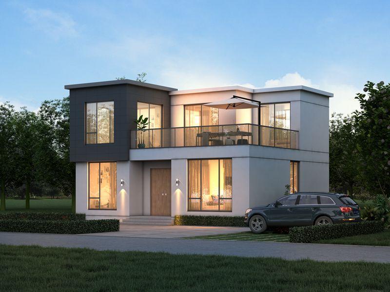 两层现代乡墅设计图,5房3厅1厨2卫都市感设计