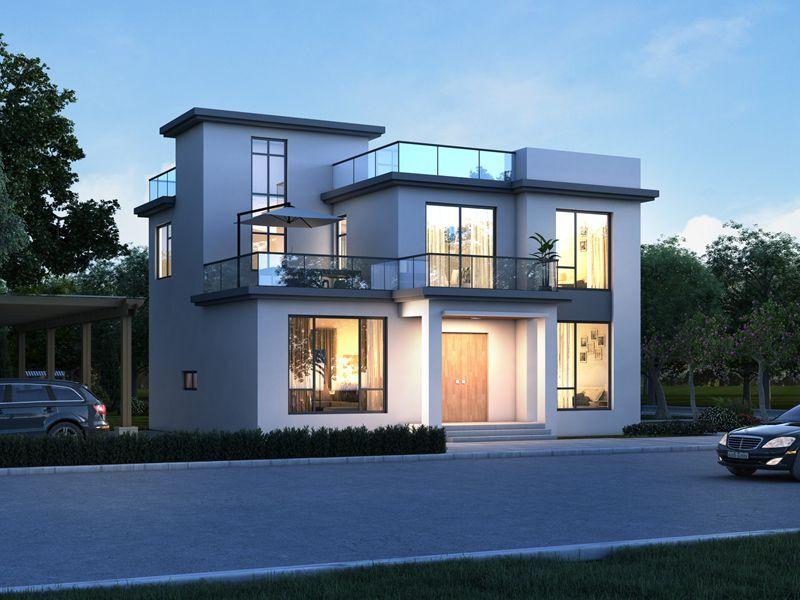 二层现代平顶别墅设计,自由开放,个性独立