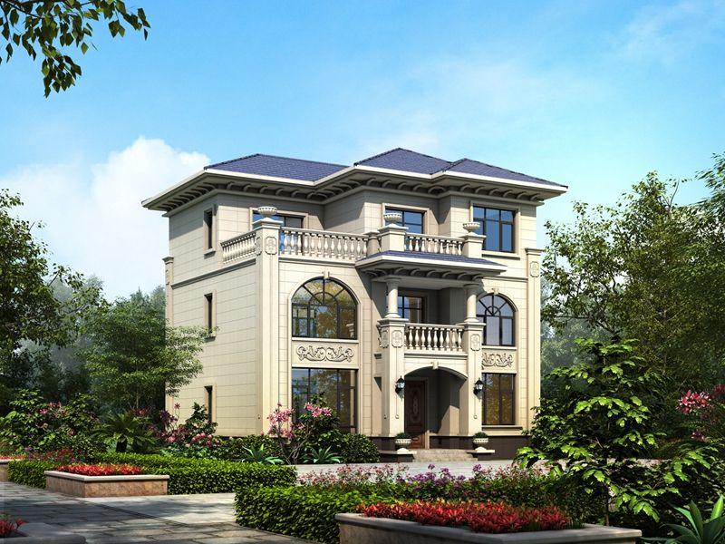 三层欧式别墅外观图,多套房设计,舒享生活