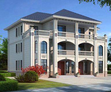 三层欧式双拼别墅,兄弟返乡建房首选,荣归故里建家园