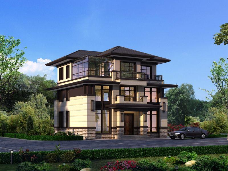 110平三层中式别墅,多套房设计空间更自在