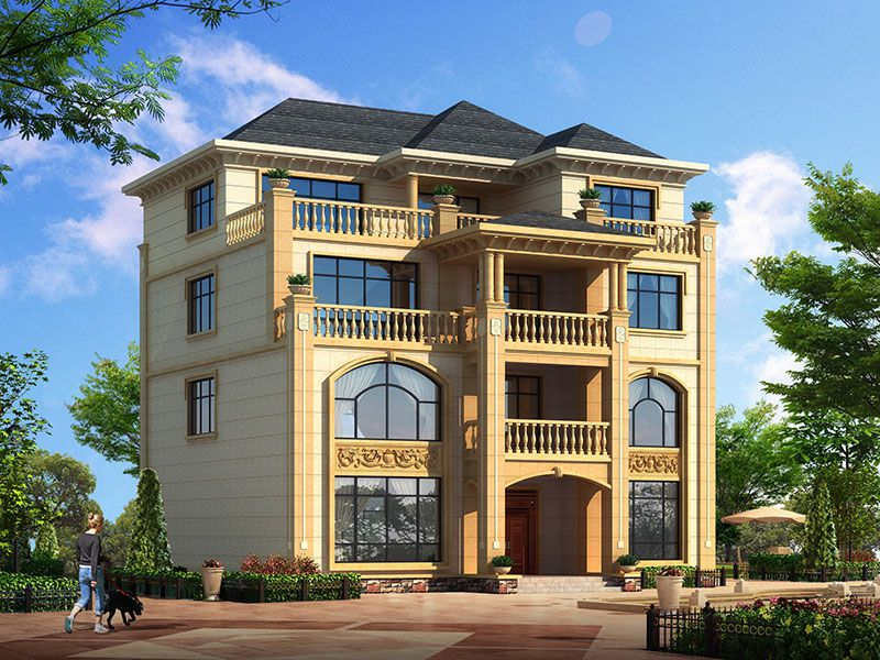 四层欧式豪华大型别墅设计图纸,高端大气!