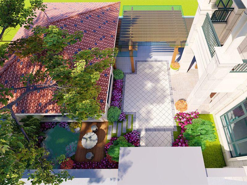 欧式别墅院子景观设计案例赏析,这样的庭院美的让人心醉