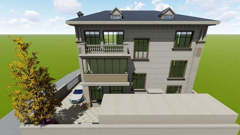 家庭式别墅庭院景观设计,简单易维护,四季适用