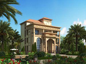 四层意大利大气别墅设计图纸 农村自建房带堂屋带效果图