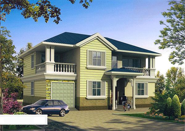 20万带堂屋农村二层别墅设计图纸2