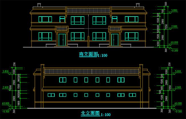 新农村两户联体式住宅2