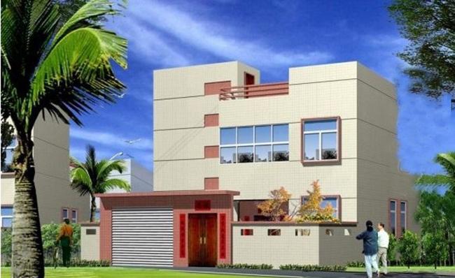现代新农村二层房屋1