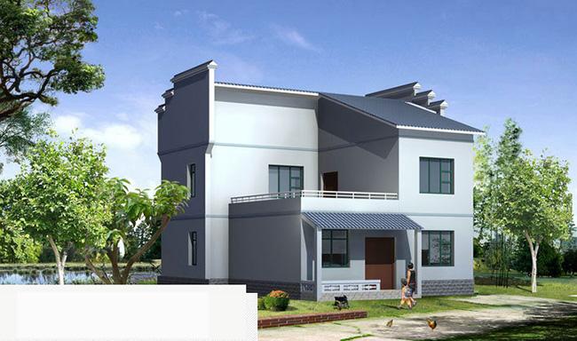 现代新农村二层房屋3