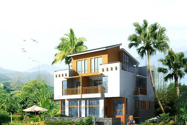 联排别墅设计的给农村规划