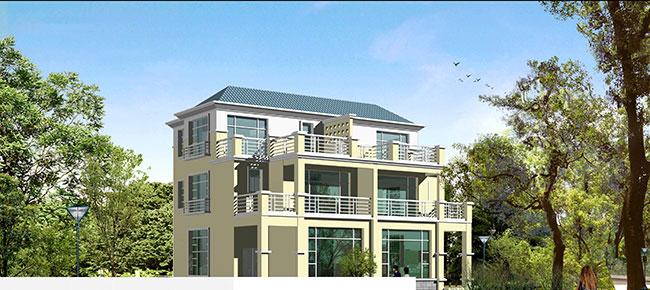 新农村两个联排别墅设计图