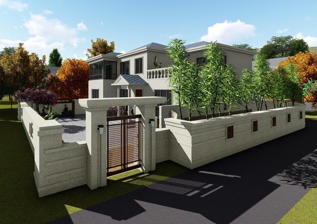 2018年最新款农村二层别墅设计图及实景图,主体35万建6室3厅871.png