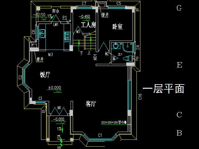 二层半新农村自建房%20别墅设计施工图带效果图%20占地80平二间三层房屋图纸8X10米673.jpg