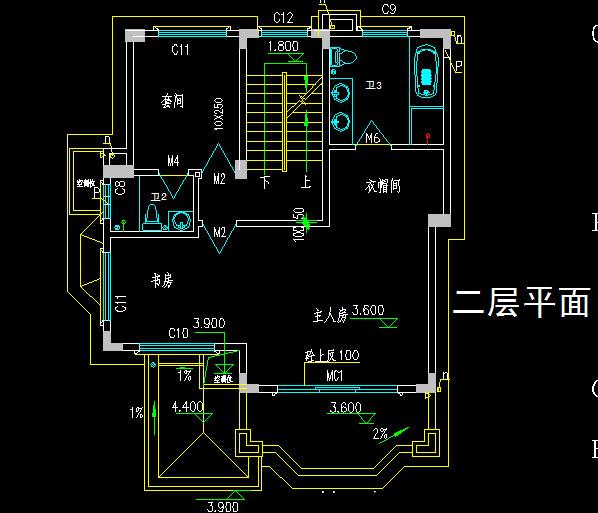 二层半新农村自建房%20别墅设计施工图带效果图%20占地80平二间三层房屋图纸8X10米820.jpg