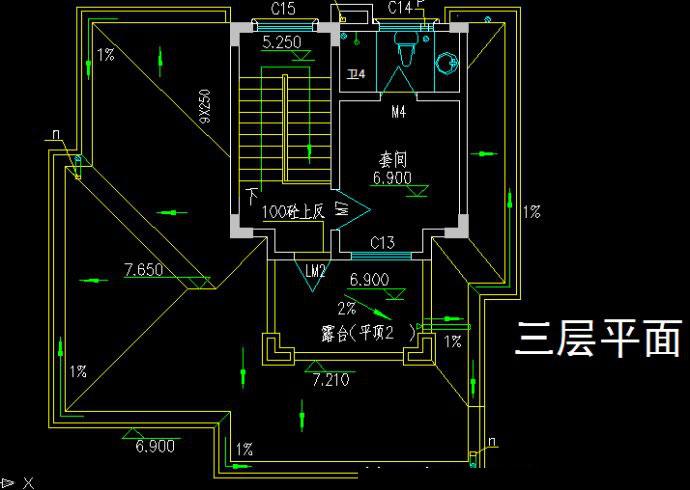 二层半新农村自建房%20别墅设计施工图带效果图%20占地80平二间三层房屋图纸8X10米967.jpg