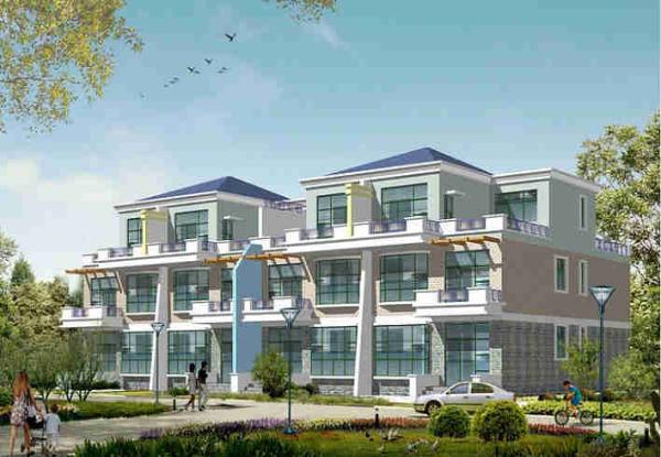 4款联体别墅设计图纸及效果图大全%20农村经济型二层独栋联体别墅外观设计图227.png