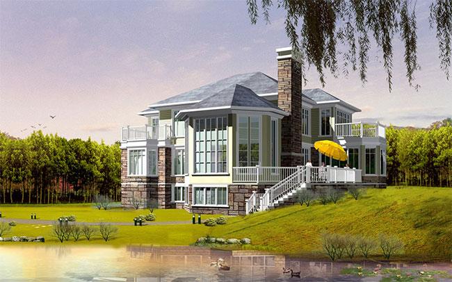 高档大气二层加地下室自建别墅设计图,241平米带车库156.jpg