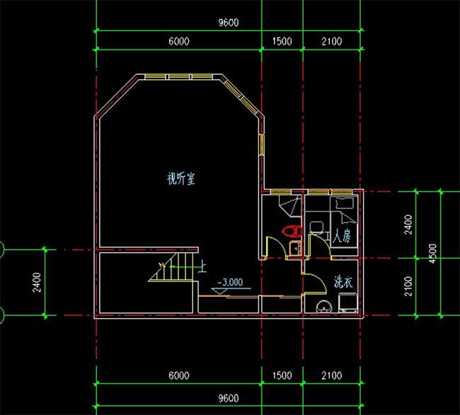 高档大气二层加地下室自建别墅设计图,241平米带车库165.jpg