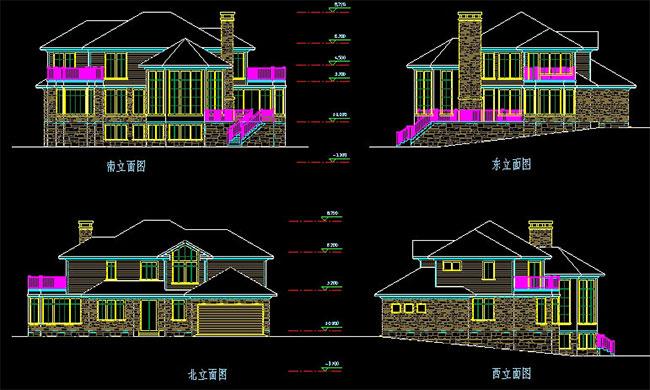 高档大气二层加地下室自建别墅设计图,241平米带车库187.jpg