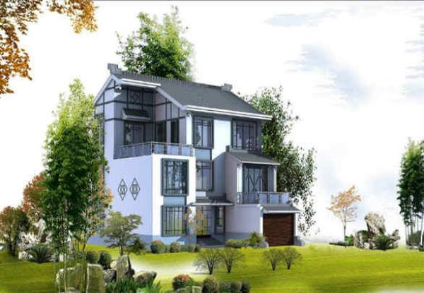 3层半农村自建房双拼别墅设计1