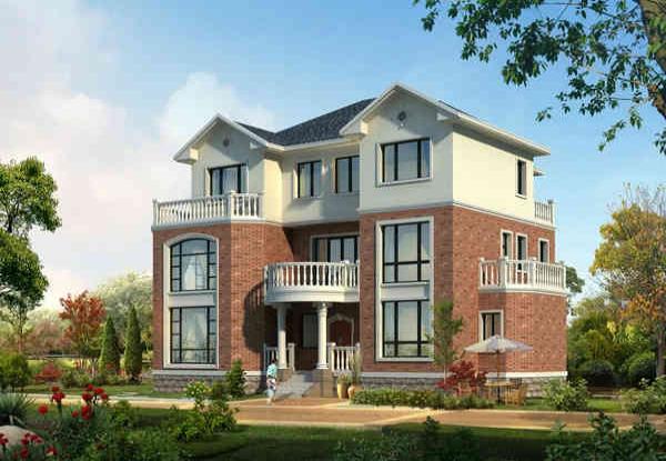 3层半农村自建房双拼别墅设计2