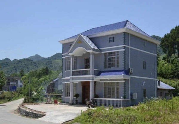 3层半农村自建房双拼别墅设计3
