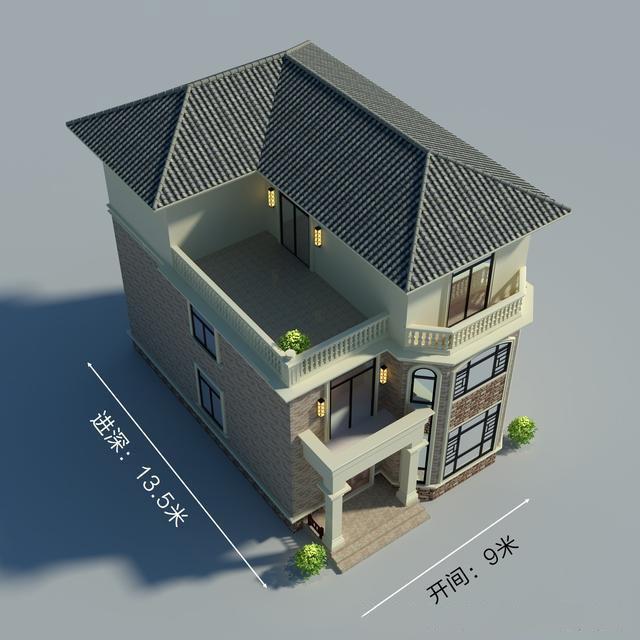 带堂屋的农村别墅2层半怎么设计呢455.jpg