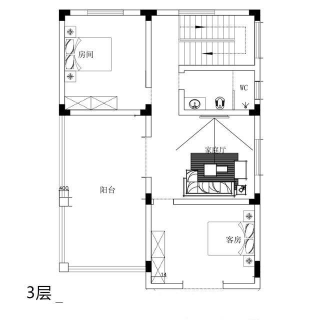 带堂屋的农村别墅2层半怎么设计呢614.jpg