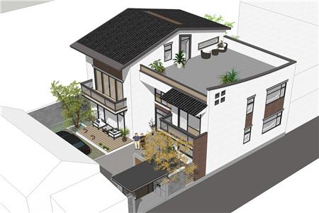 占地130平的二层半新中式农村别墅,4室3厅还带超大露台380.png