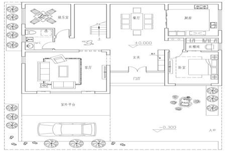 占地130平的二层半新中式农村别墅,4室3厅还带超大露台467.png