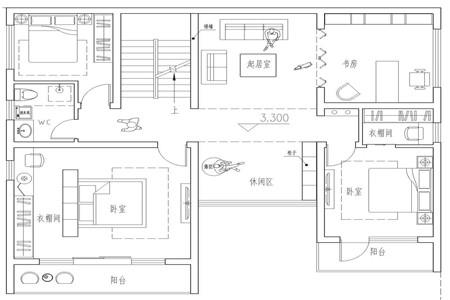 占地130平的二层半新中式农村别墅,4室3厅还带超大露台475.png