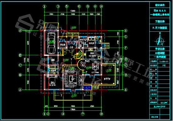 200平米带大露台CAD图