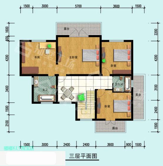3层楼房效果图5