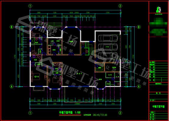 乡村三层豪华别墅CAD