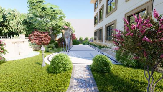私家小庭院实景石阶