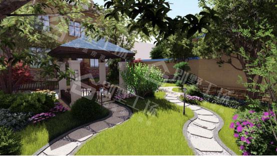 上海私家别墅庭院景观花草