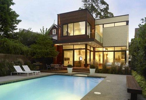 现代泳池别墅图片及户型介绍3