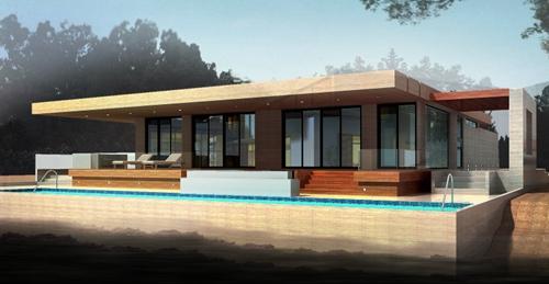 现代泳池别墅图片及户型介绍4