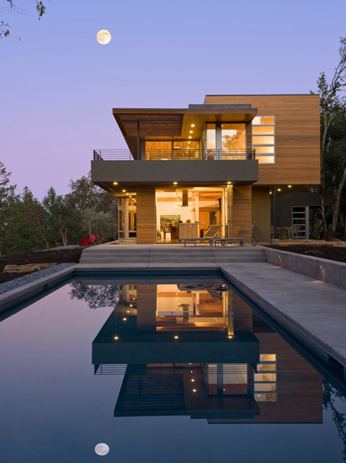 现代泳池别墅图片及户型介绍5