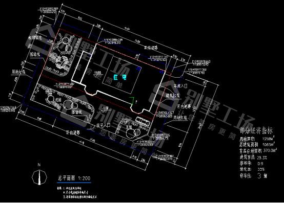 三层豪华型别墅CAD平面图