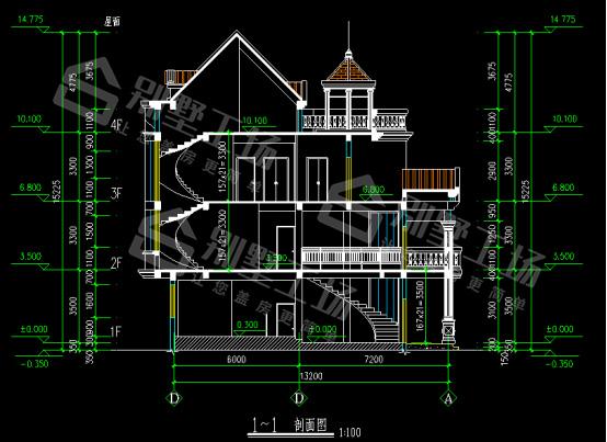 剖面图CAD平面图