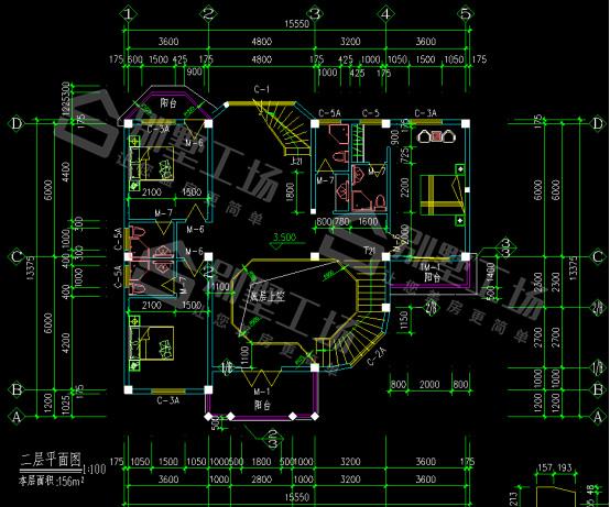2层CAD平面图