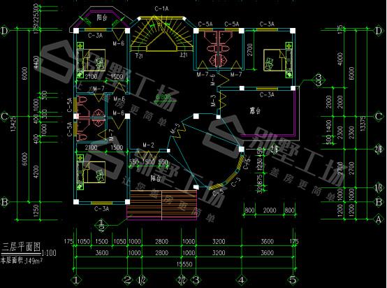 3层CAD平面图