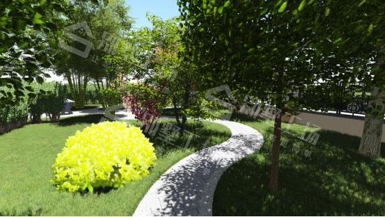 农村小庭院围栏别墅公路
