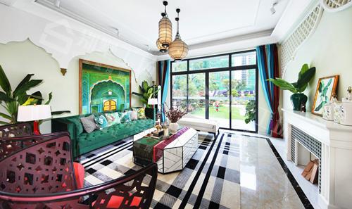 异域风情别墅设计及室内装修实景图1