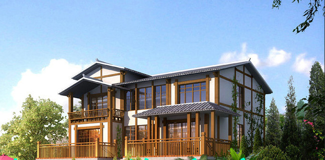 农村木结构别墅