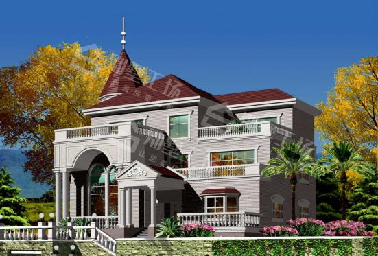 带泳池和花园的3层别墅