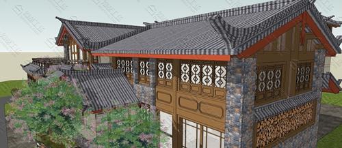 中式民宿设计效果图图片4