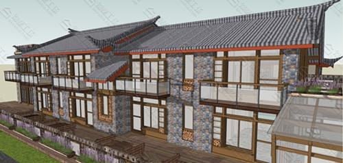 中式民宿设计效果图图片6